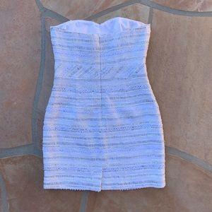 Trina Turk Dresses - Trina Turk Textured Strapless Mini Dress